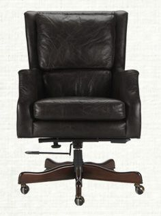 Alex Leather Desk Chair In Old Saddle Black Leather Desk Home