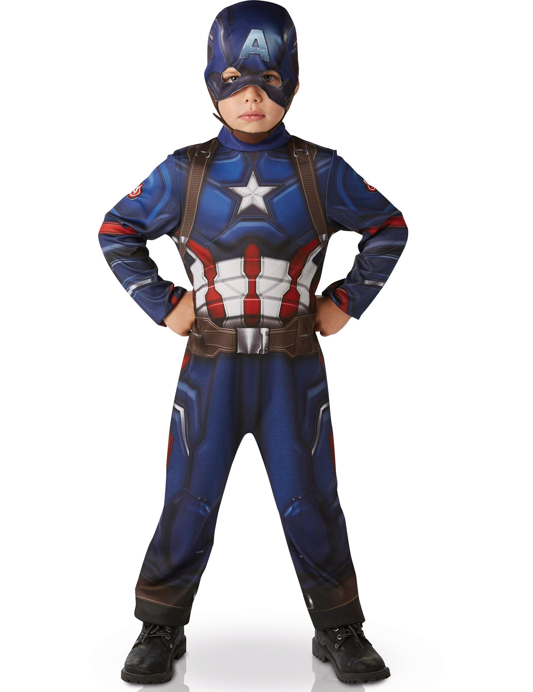 Déguisement Homme CAPTAIN America XL Dessin Animé Marvel Film NEUF pas cher