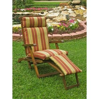 Steamer Chaise Lounge Cushion Fabric Sky Works Carribean 61 01 Patio Chaise Lounge Patio Cushions Outdoor Rocking Chairs