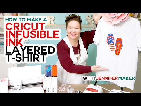 (424) Cricut Infusible Ink Layered TShirt Tutorial Full