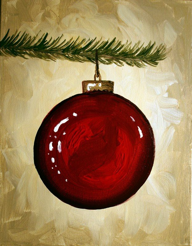 Large Red Christmas Tree Ornaments : Big red ornament on christmas tree limb jingle bells