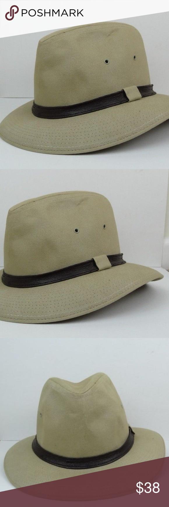 VINTAGE Mallory By Stetson Hat Tan Beige Khaki Vintage Mallory By Stetson  men s hat in a b7c79f45b0a