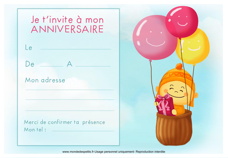 carte invitation anniversaire carte d