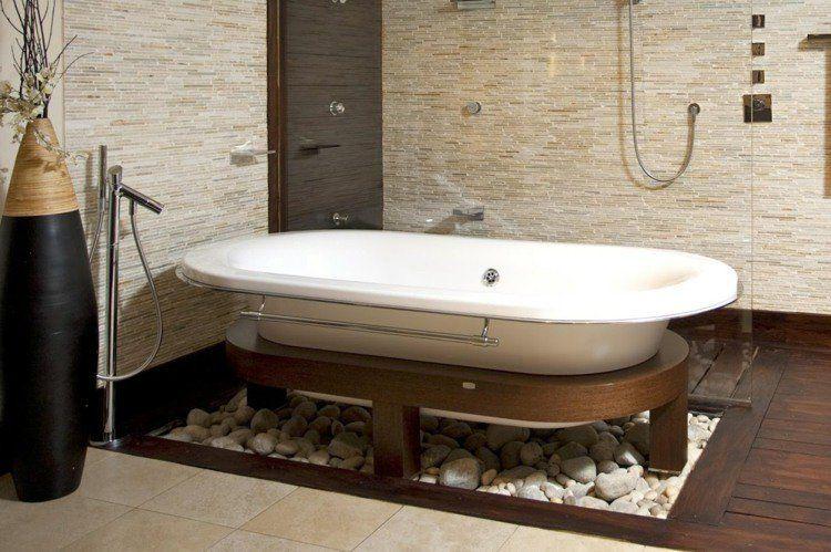 Une belle id e d co pour sa baignoire dans une salle de bain zen salle de bain zen - Une belle salle de bain ...