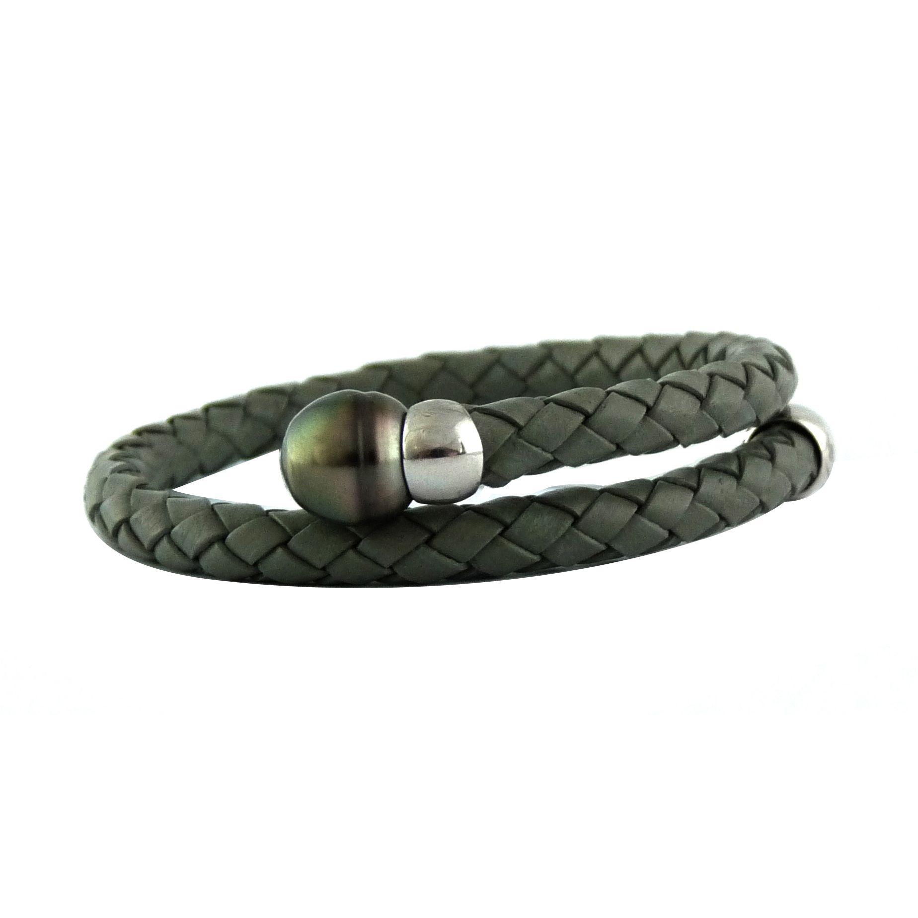 Bracelet perle de tahiti pour homme