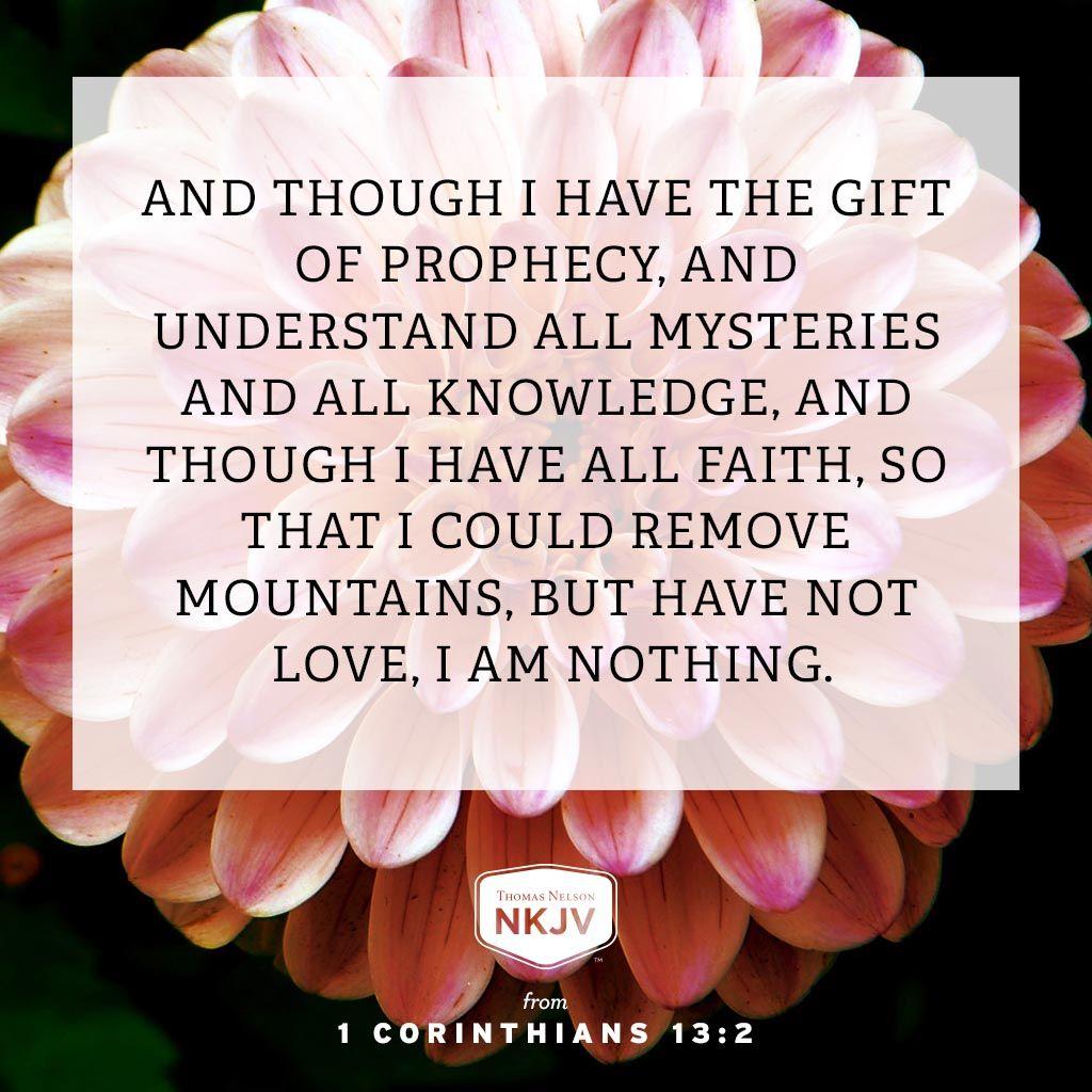 1 Corinthians 1313 Nkjv, The gift of prophecy, Faith
