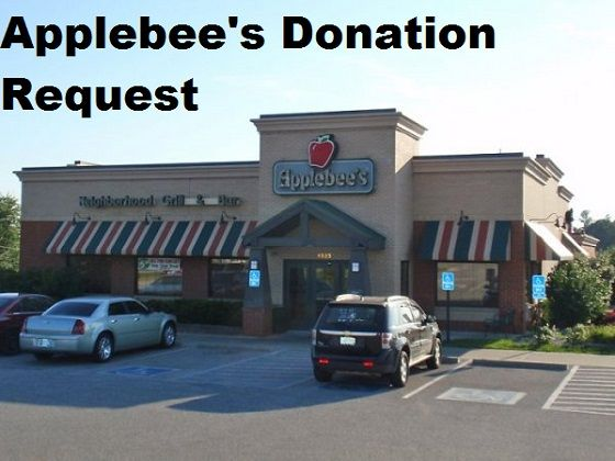 Applebee's Donation Request | Donations | Donation request