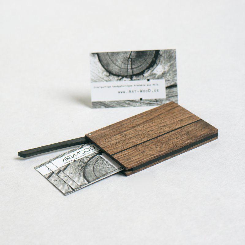 Visitenkartenetui Aus Holz Dieses Ist Die Version In