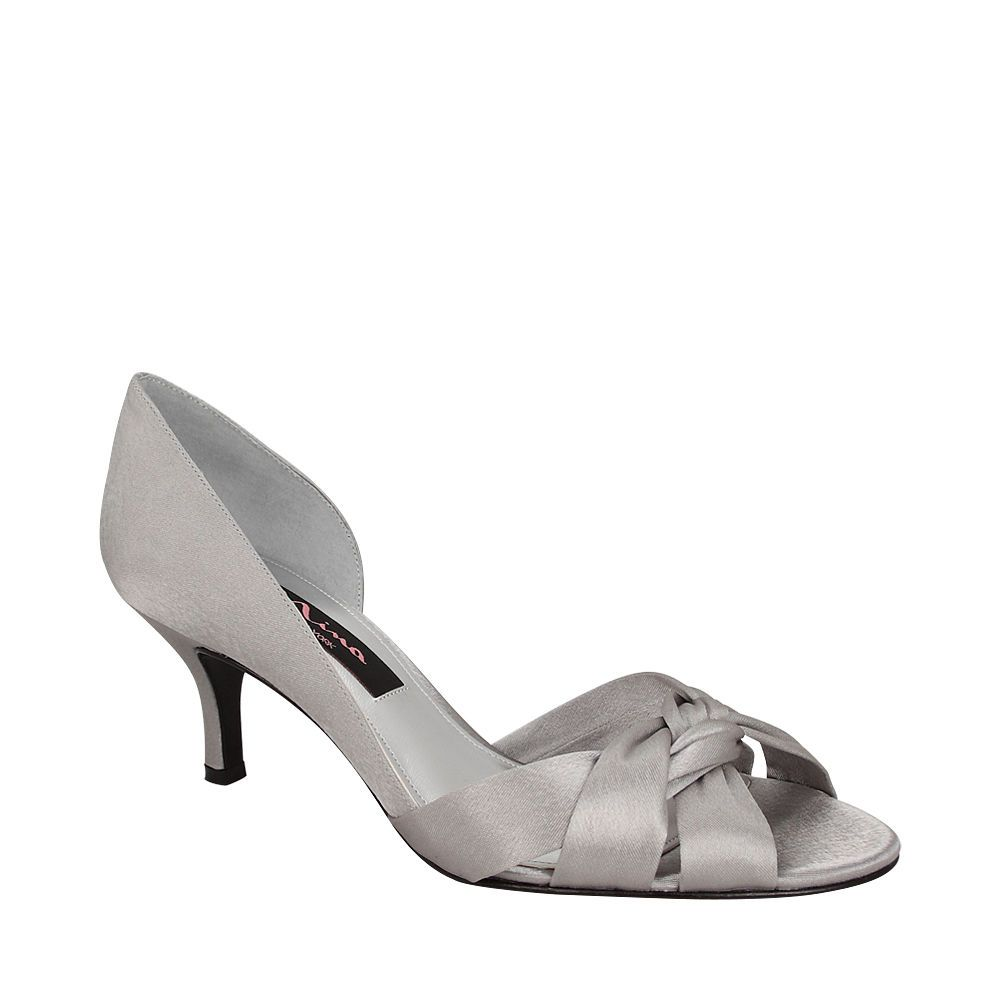 Nina Crista Steel Luster Satin By Nina Shoes Nina Shoes Bride Shoes Mother Of The Bride Shoes
