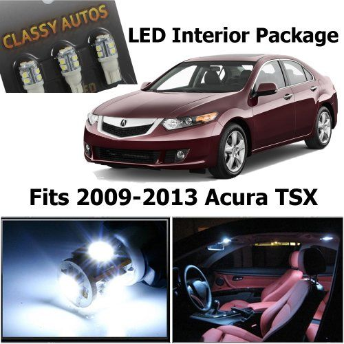 Classy Autos Acura TSX White Interior LED Package (8