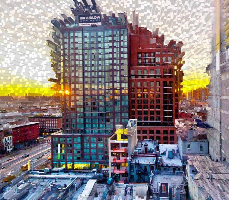 Energy Series 1 Sunrise In The Lower East Side Digital Art Etsy Lower East Side Fine Art Photographs Sunrise