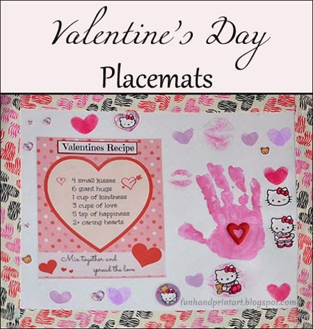 Valentine\'s Day Duck Tape Placemat Craft with Handprints & Cute ...