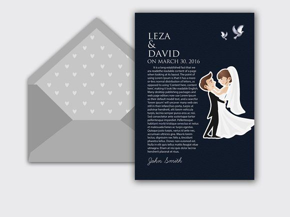 Wedding Invitation Card Template by Business Flyers on - wedding card template