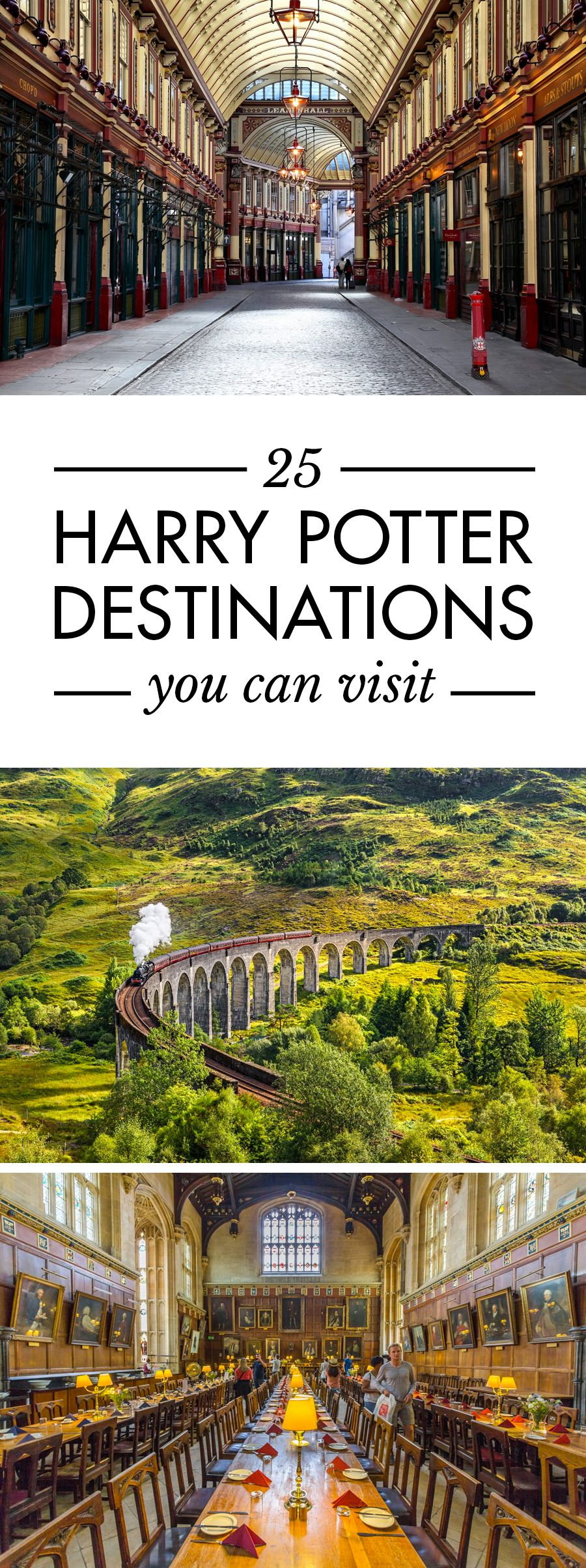 25 Harry Potter Destinations You Can Visit In Real Life Reisen Reiseziele Harry Potter Reise