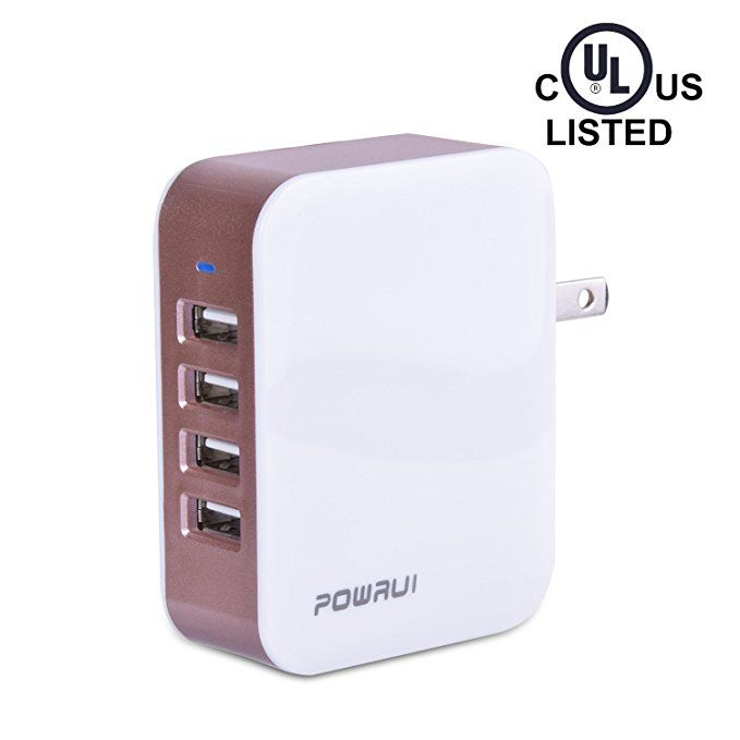 powrui 4 port usb wall charger 4 8a 24w travel charger on usb wall charger id=11938