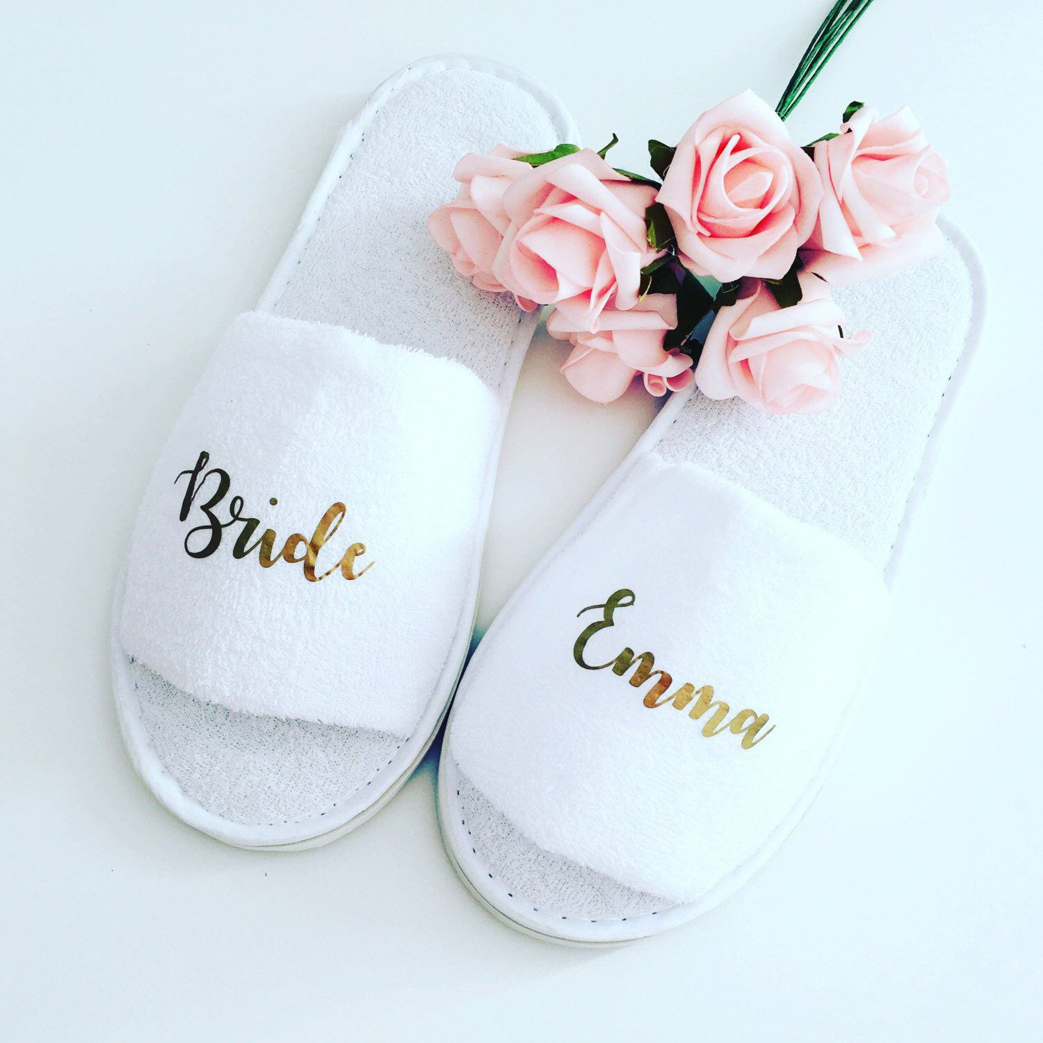 51eb4ced8 Excited to share this item from my  etsy shop  Personalised wedding slippers