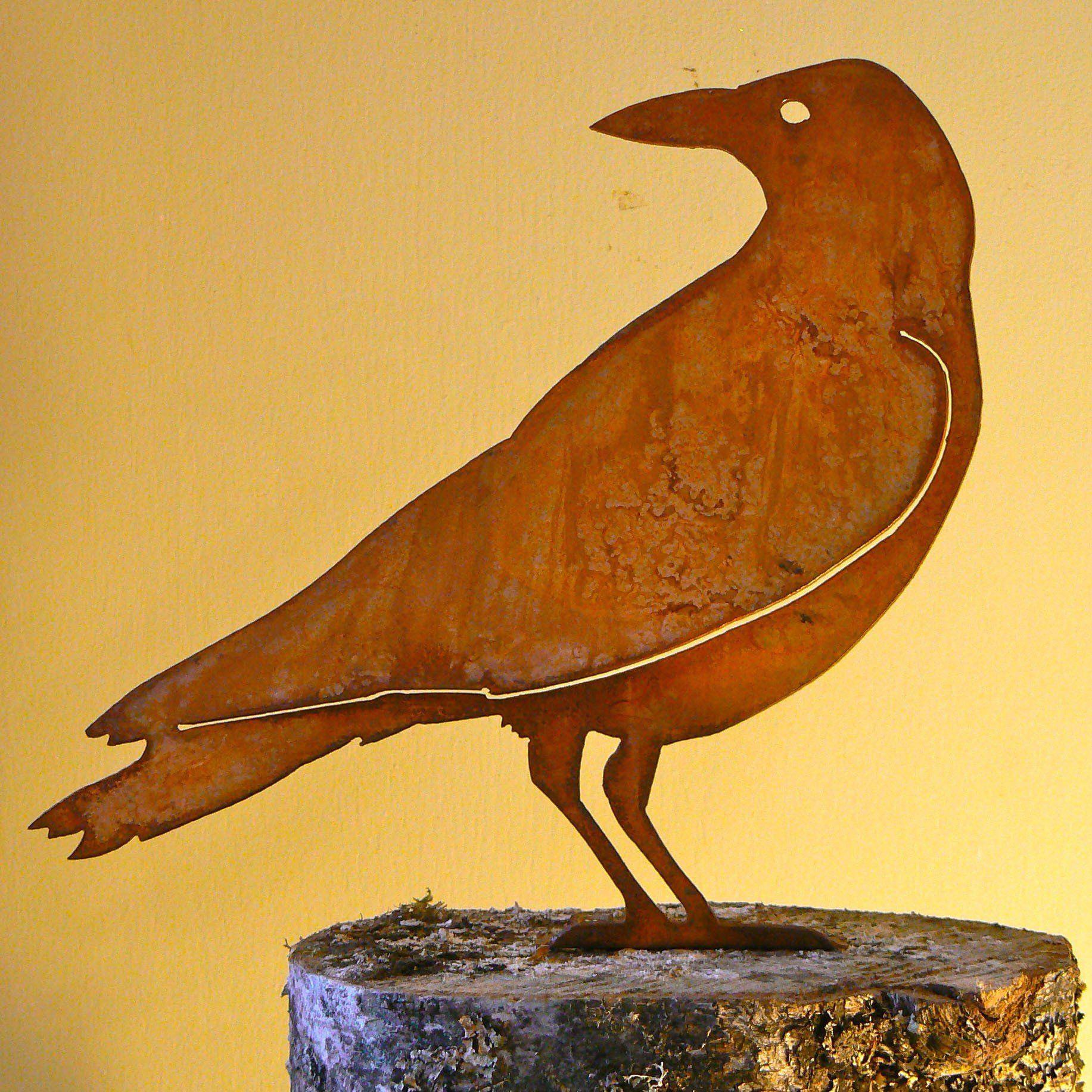 Crow 2 Rusty metal, Bird silhouette, Rustic art
