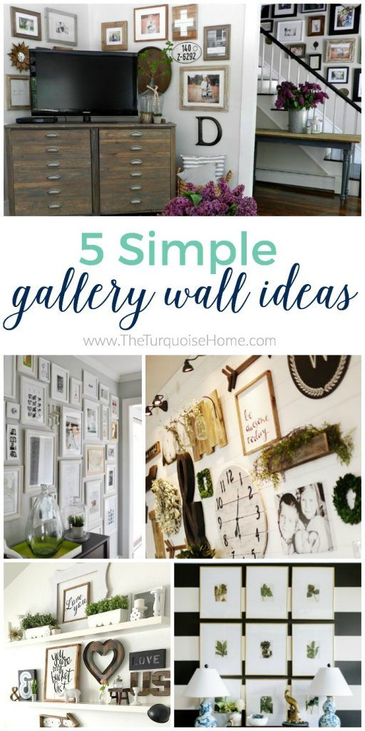 Give your blank wall a big dose of personality with these 5 Simple Gallery Wall Ideas!