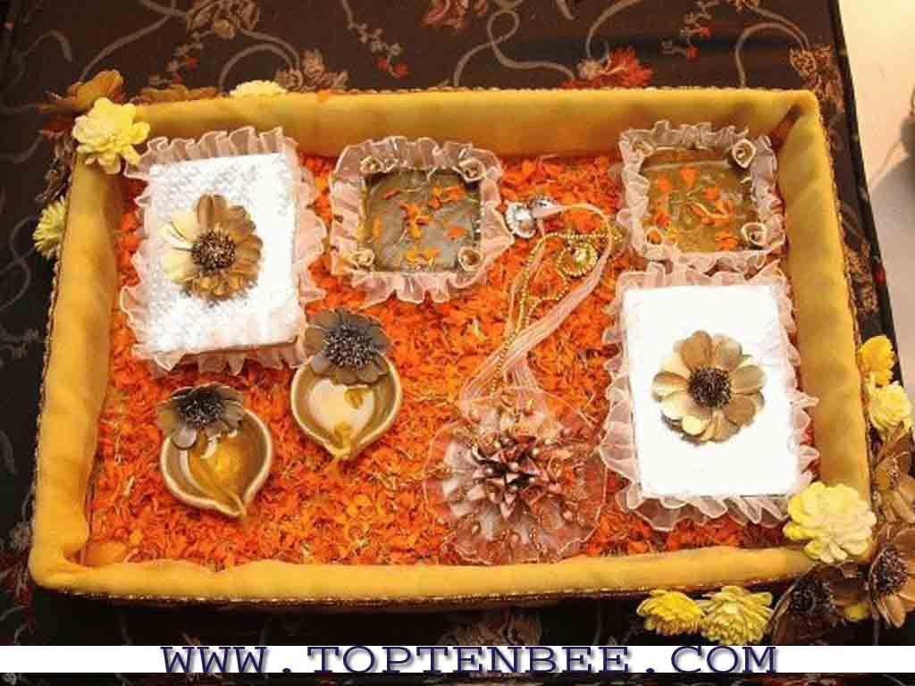 Diy Mehndi Plates : Mehndi plate decoration wedding decor and
