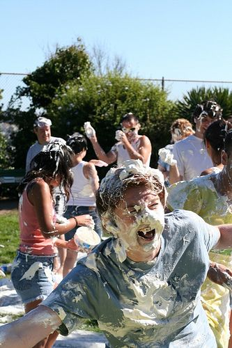 For A Birthday Party Have A Food Fight Use Whooped Cream In