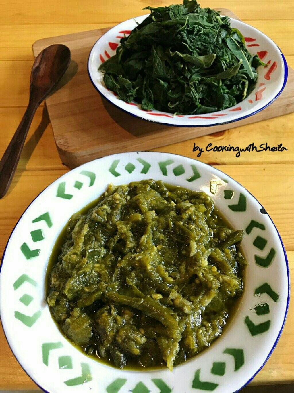 Daun Singkong Rebus Dan Sambal Lombok Ijo Fotografi Makanan Makanan Pedas Resep Masakan Indonesia