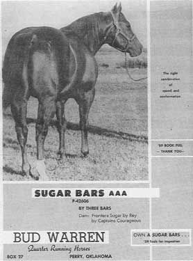 Sugar Bars | Sugar Bars Quarter Horse Legend