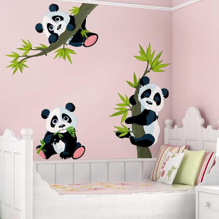 Wandtattoo pandab ren ist eine zauberhaftes wandtattoo mit kleinen s es pandas auf sten ein - Tolle wandtattoos ...