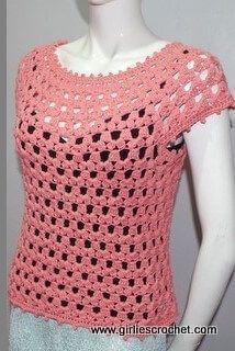 Lea Blouse, #crochet, free pattern, top, #haken, gratis patroon (Engels), trui, top, zomer, #haakpatroon