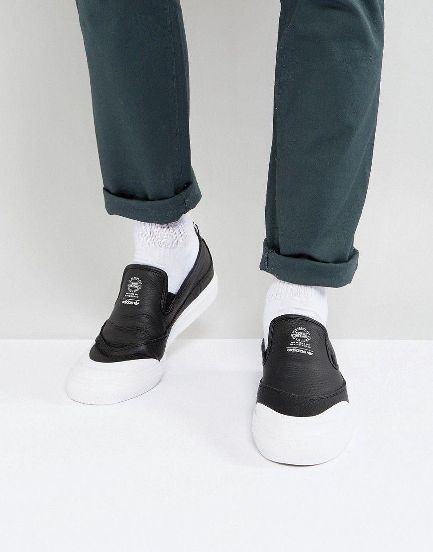 adidas Skateboarding Matchcourt Slip On Sneakers In Black