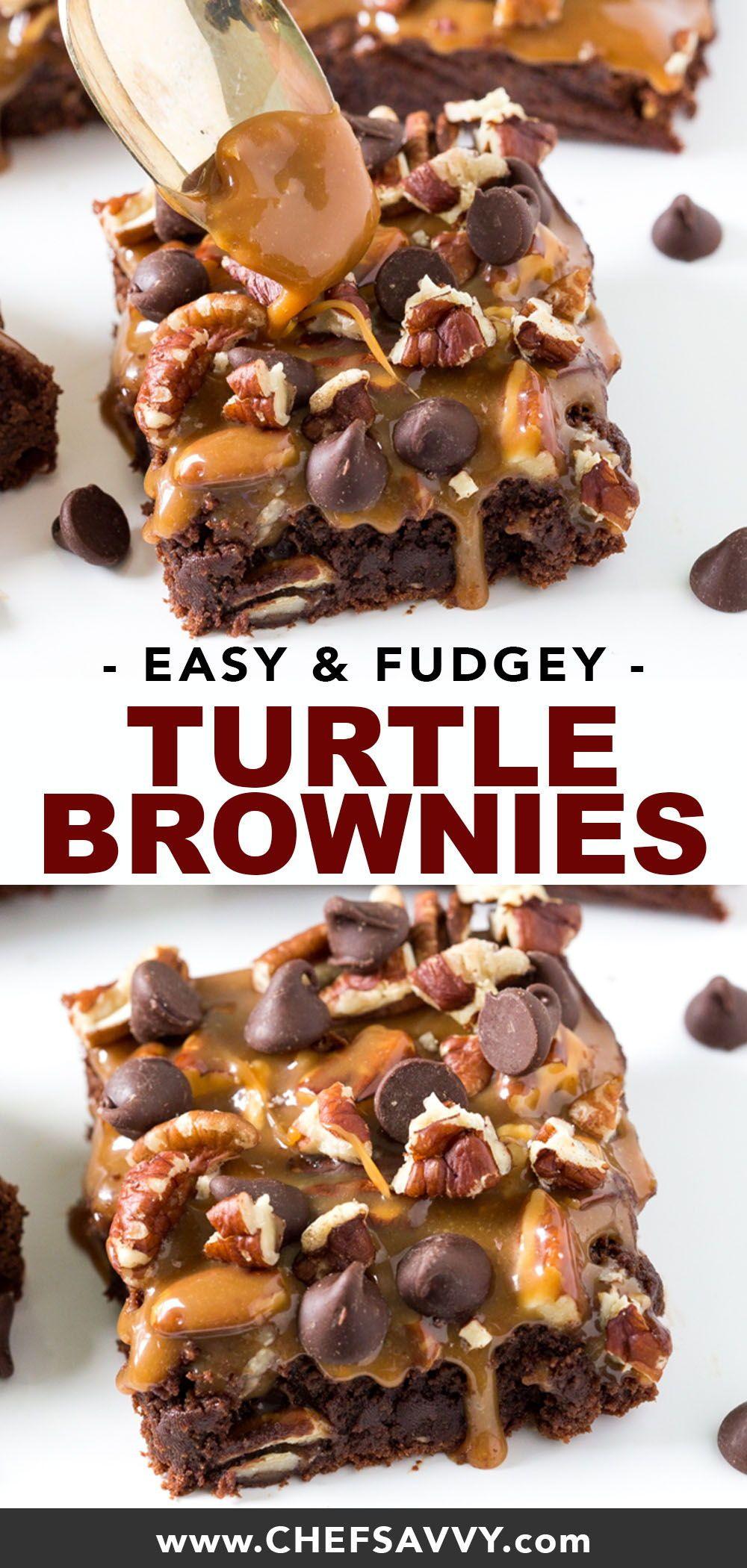 Easy Turtle Brownies