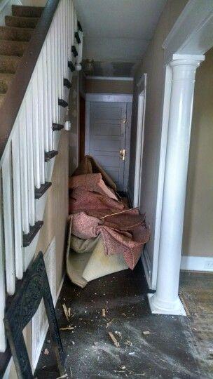 Ugly old carpet pile