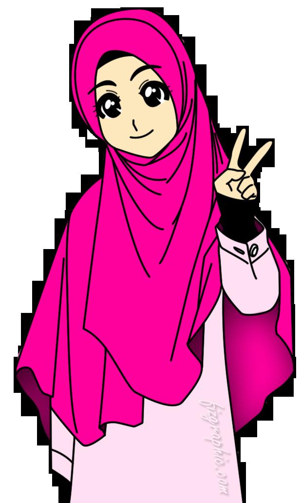 muslimah Kartun, Gambar, Lucu