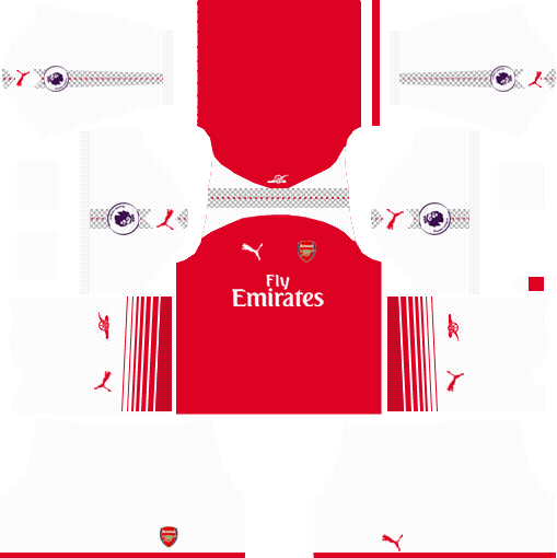 new concept d098d 140f1 Dream League Soccer Arsenal Kits 2018/19 with Logo and URL ...