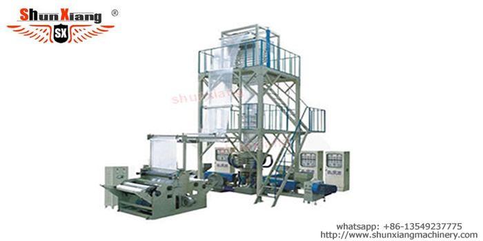 Three-layer ABA co-extrusion blowing film machine enjoys