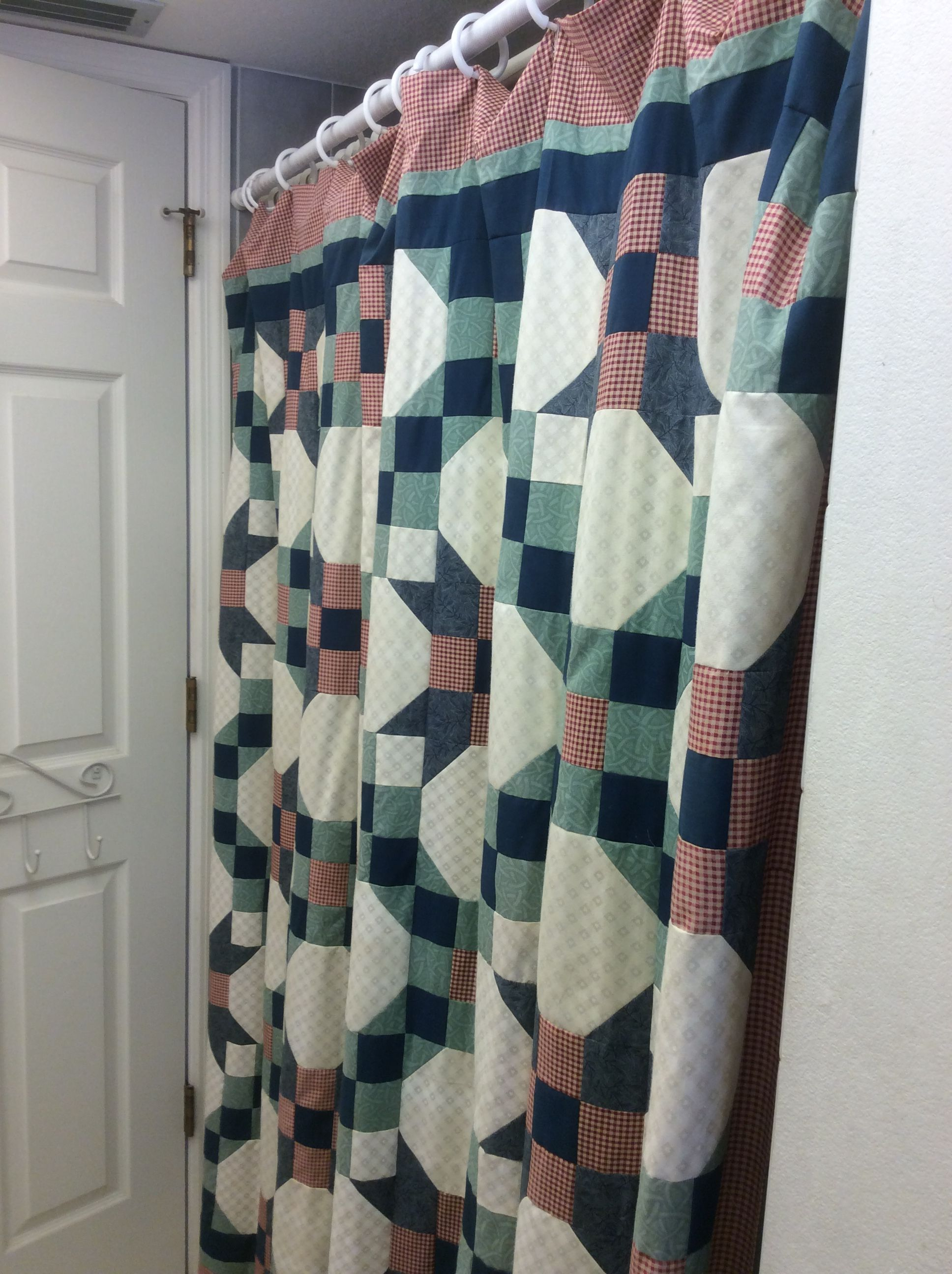 Quilt Shower Curtain Made By Sharon Theriault Curtains Shower