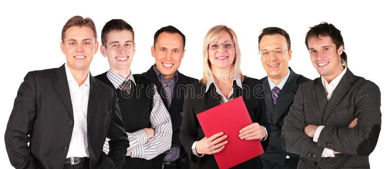 Smiling Faces Business People Group On White Aff Business