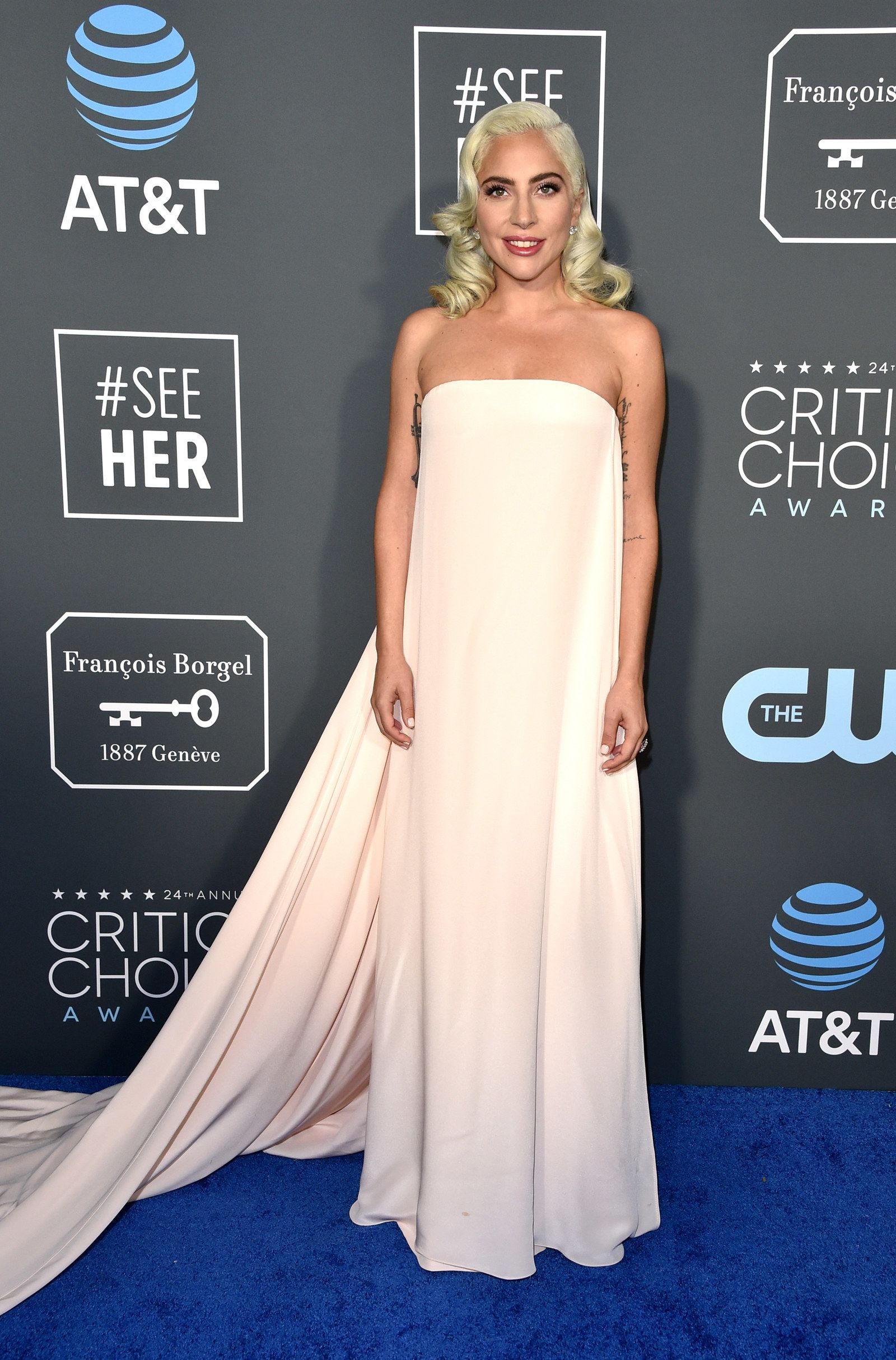 247a8b57436 Lady Gaga Showed Up To The 2019 SAG Awards In A Dress Straight From The  Runway