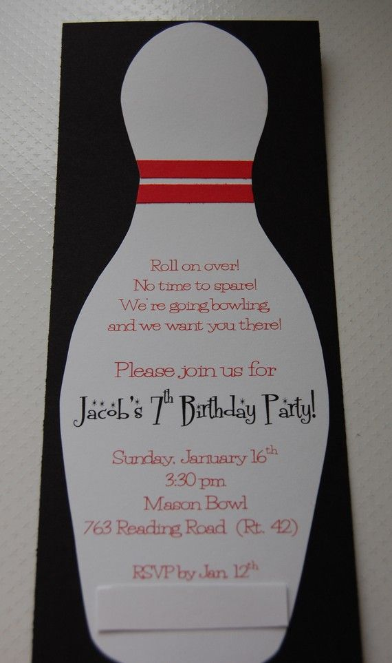 bowling party invitation | party ideas | Pinterest | Party ...