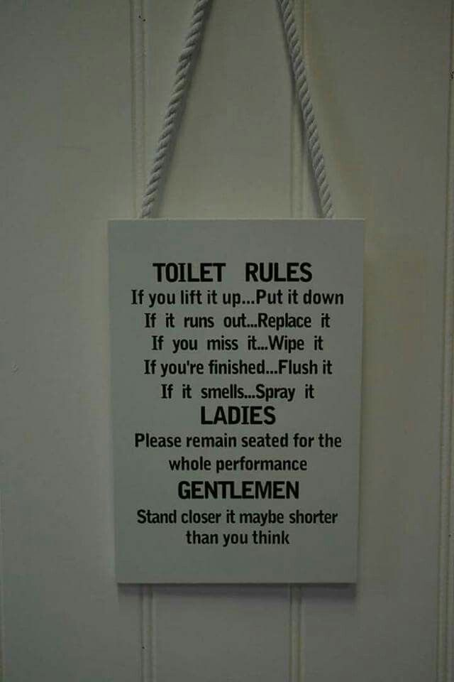 pin by queenie on bathroom pinterest bathroom bathroom signs rh pinterest com Restroom Signs Toilet Flushing Humorous Toilet Signs
