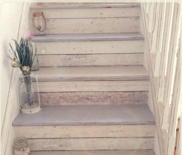 Hedendaags Trap verven met Krijtverf van Creta et Aqua – Maison Mansion IN-37