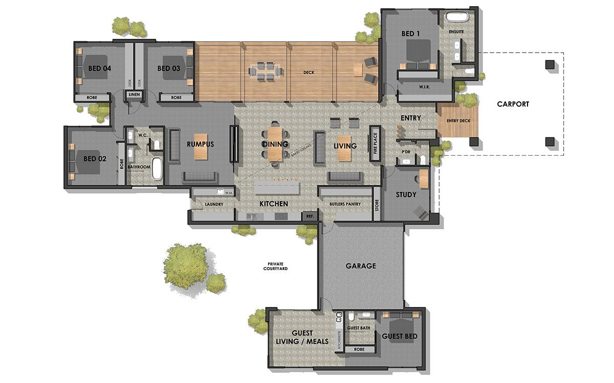 Torquay 39 Floor Plan 1200 750 Dream House Plans Luxury House Plans House Plans