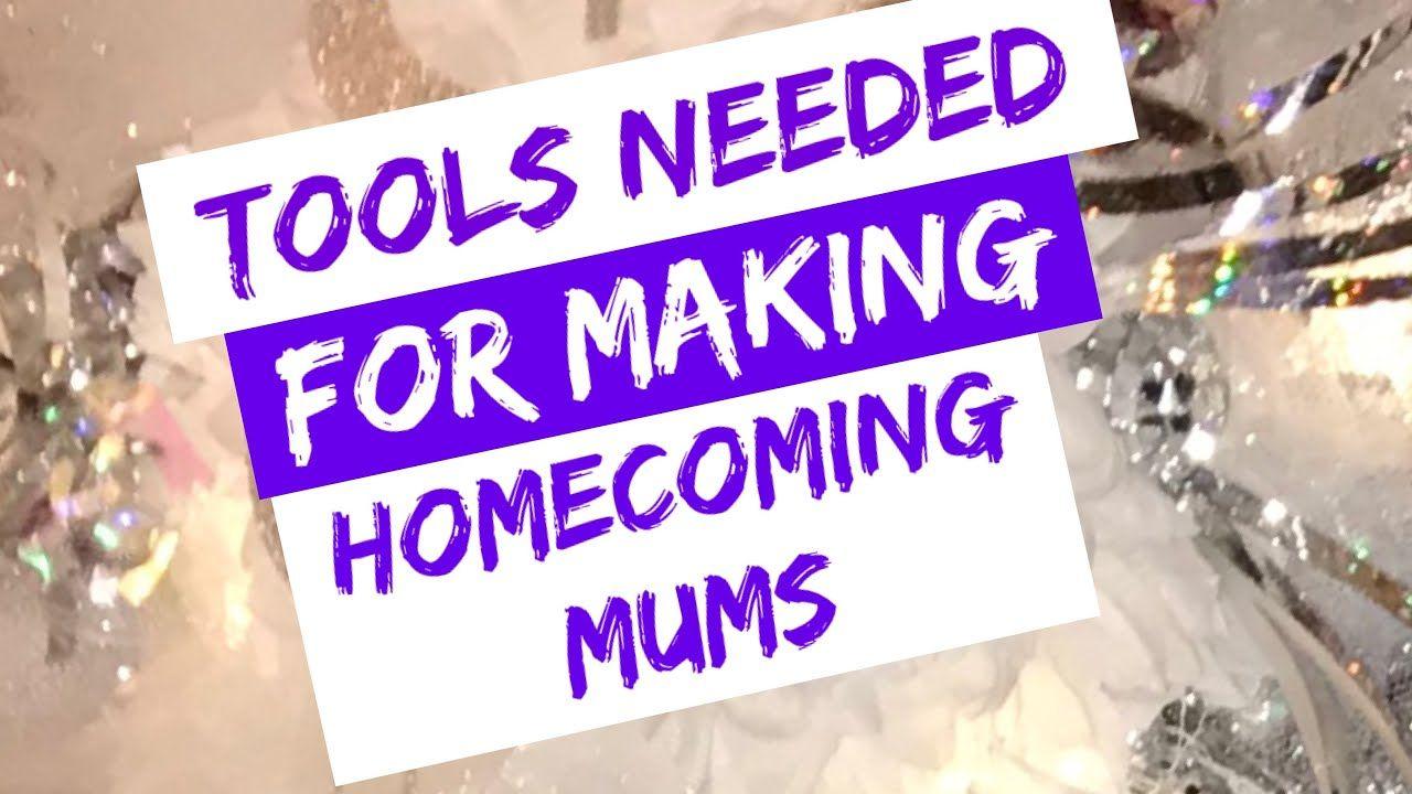 Homecoming mum making essential TOOLS; DIY HOMECOMING MUMS; mum making supplies