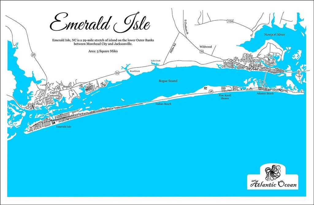 Emerald Isle Nc Map Pin on Miscellaneous Laser Cut Lake Maps