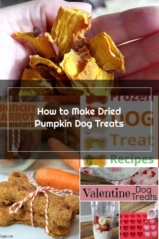 How to make dried pumpkin dog treats. Allergy free dog