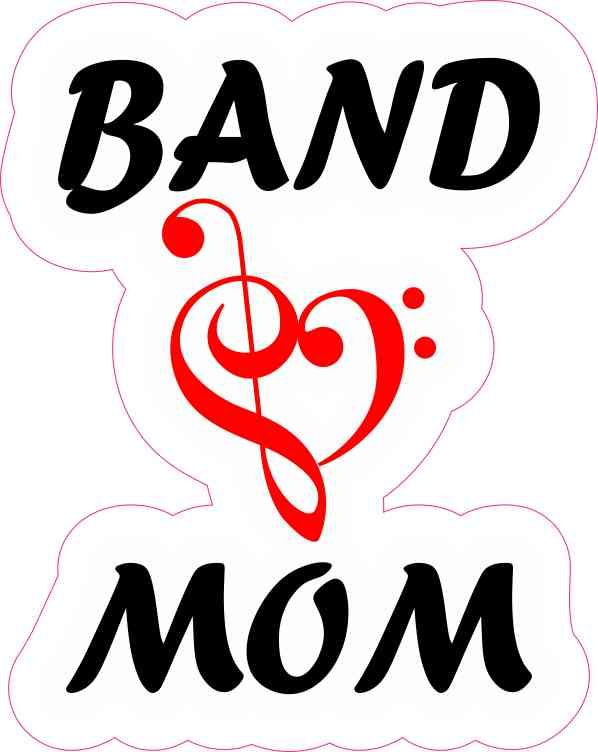 4in x 5in red band mom sticker stickertalk