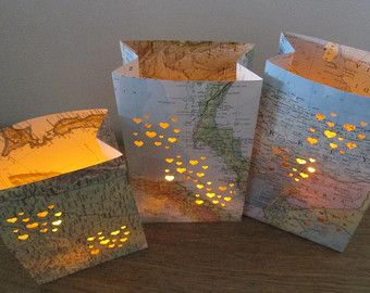 travel themed party ideas - map lights