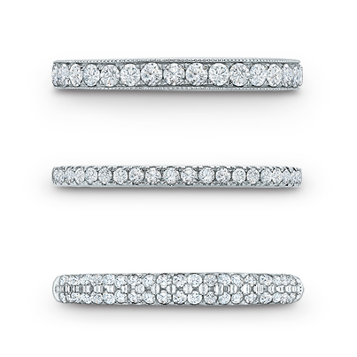 Vera Wang LOVE Bands. I think any of these three will look beautiful with my engagement ring http://www.planningwedding.net/
