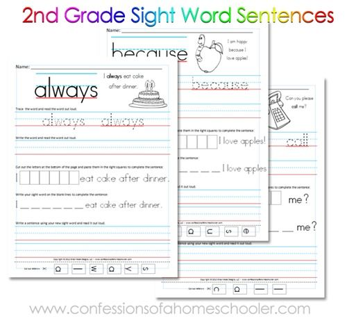 Free 2nd grade sight word sentences printables first grade 2nd grade sight word sentences trace it write it cut and paste check out stevensfamilyhomeschool as well ibookread Download