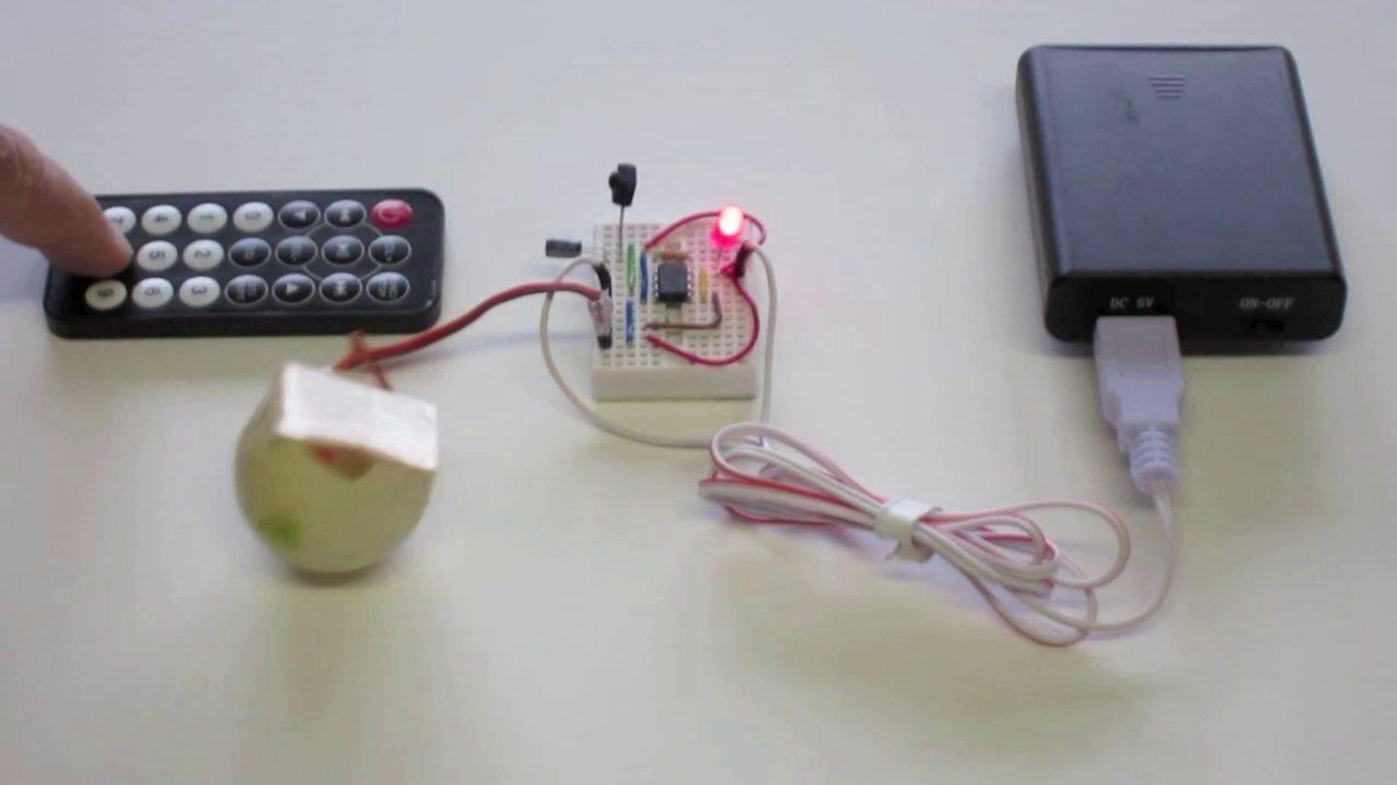 Attiny ir remote control wiebelbot remote power strip