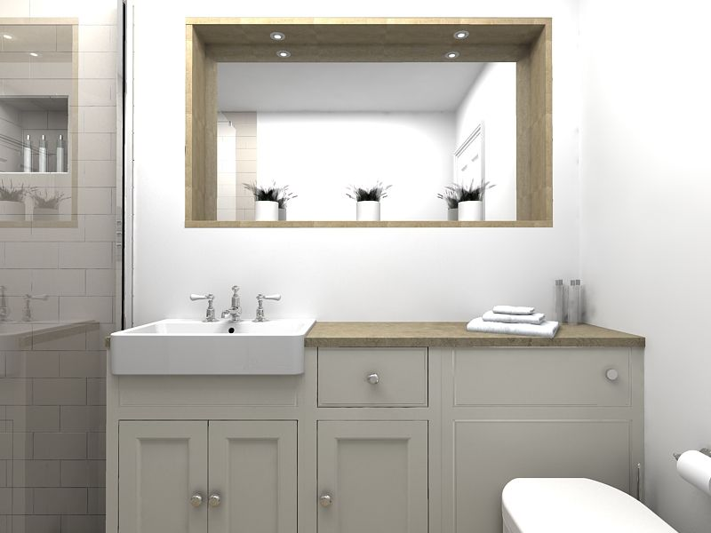 Roper Rhodes Fitted Hampton Furniture Recessed Mirror And Walk In Shower